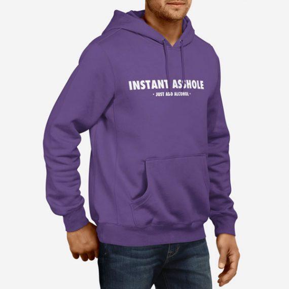 Moški pulover s kapuco Asshole