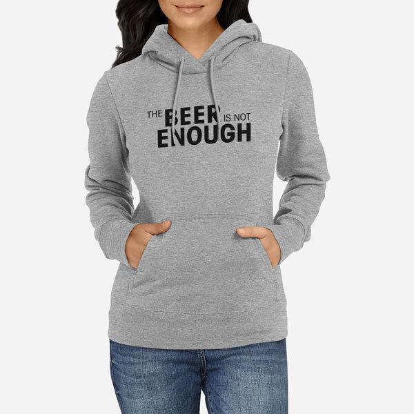 Ženski pulover s kapuco Beer Enough