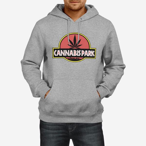 Moški pulover s kapuco Cannabis Park