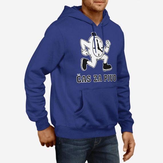 Moški pulover s kapuco Čas za pivo