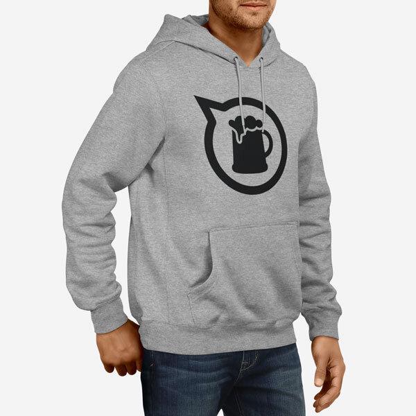Moški pulover s kapuco Daj pivo