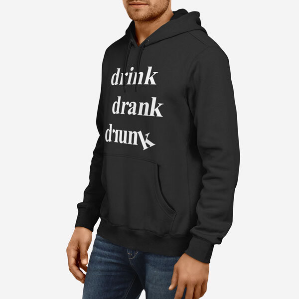 Moški pulover s kapuco Pijan