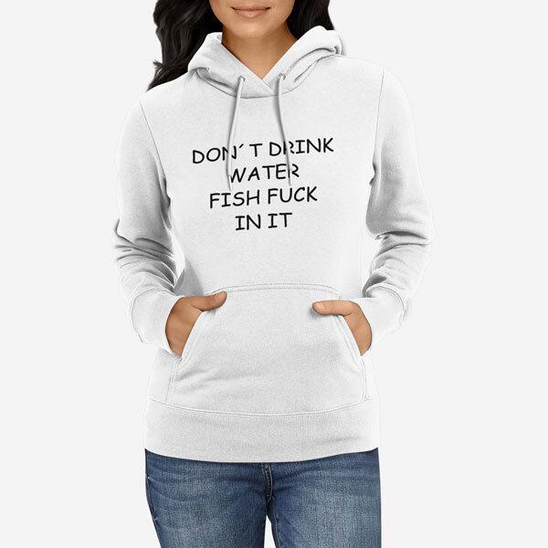 Ženski pulover s kapuco Fuck
