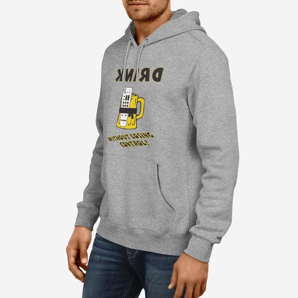Moški pulover s kapuco Nadzor piva