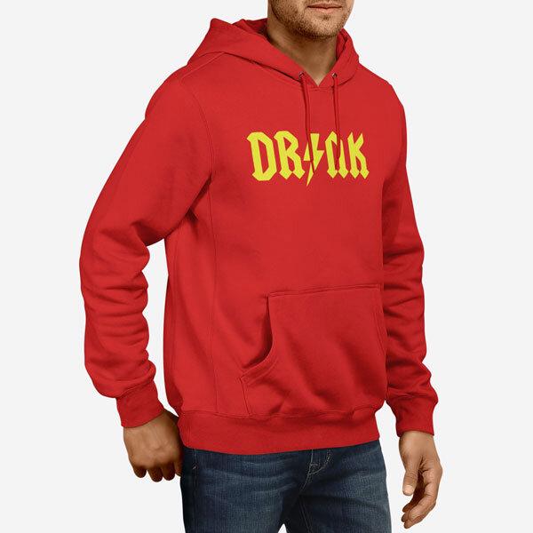 Moški pulover s kapuco Drink