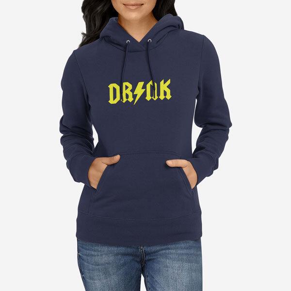 Ženski pulover s kapuco Drink