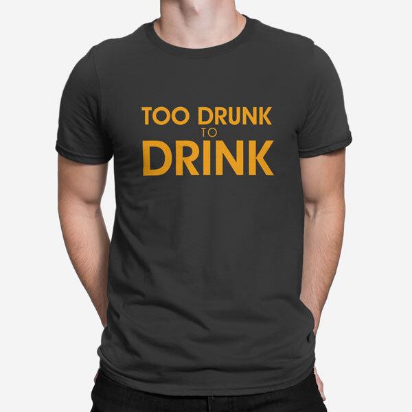 Moška kratka majica Preveč vinjen