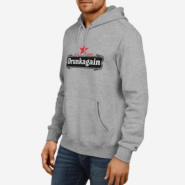 Moški pulover s kapuco Drunkagain