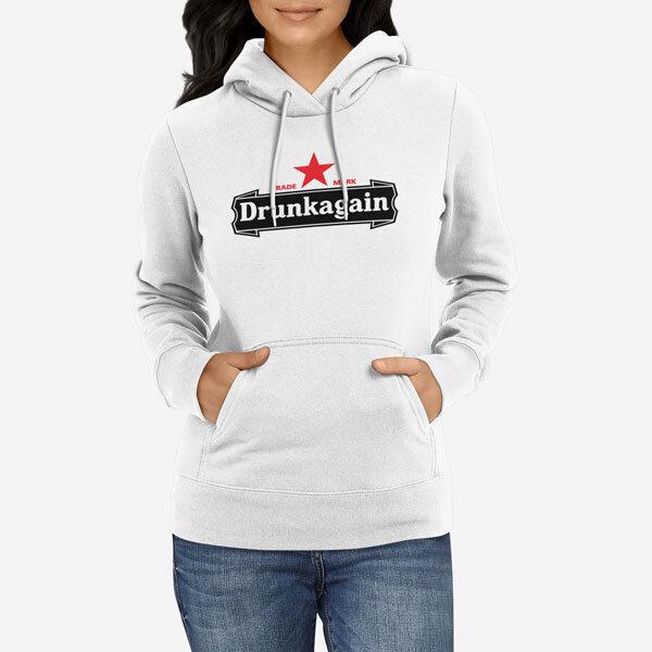 Ženski pulover s kapuco Drunkagain