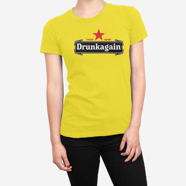Ženska kratka majica Drunkagain