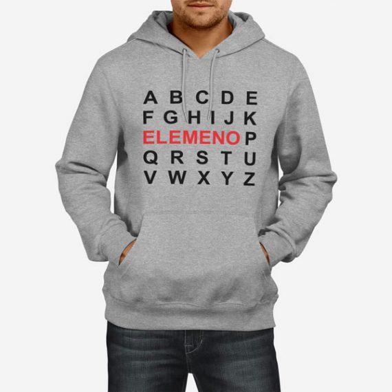 elemeno Moški pulover s kapuco