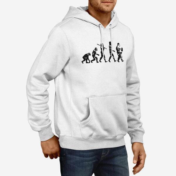 Moški pulover s kapuco Evolucija Pivo pivca