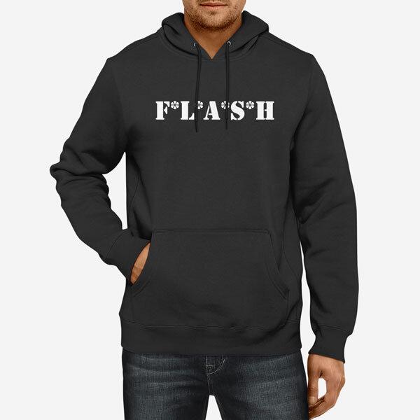 Moški pulover s kapuco Flash