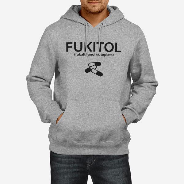 Moški pulover s kapuco Fukitol