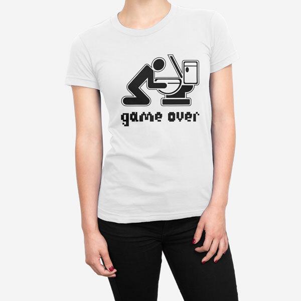 Ženska kratka majica Game Over Drink
