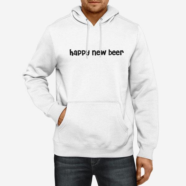 Moški pulover s kapuco Happy New Beer