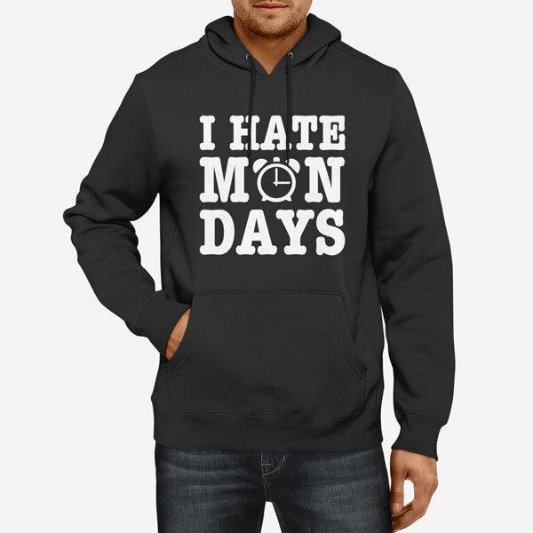 Moški pulover s kapuco I Hate Mondays