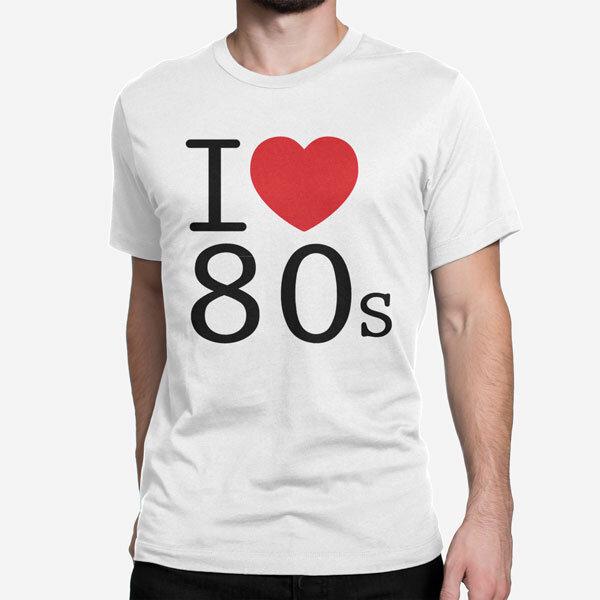 Moška kratka majica I love 80s