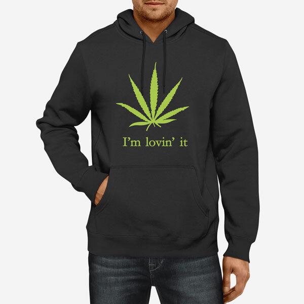 Moški pulover s kapuco Lovin it