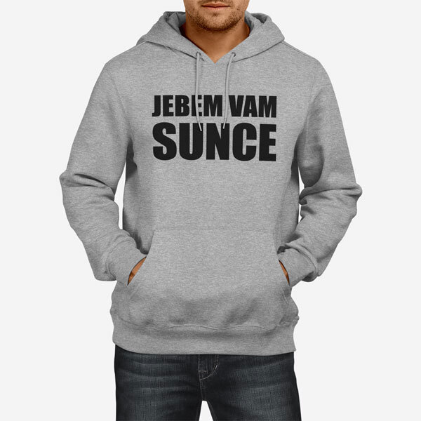 Moški pulover s kapuco Jebem vam sunce