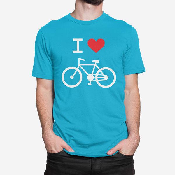 Moška kratka majica I Love Bike