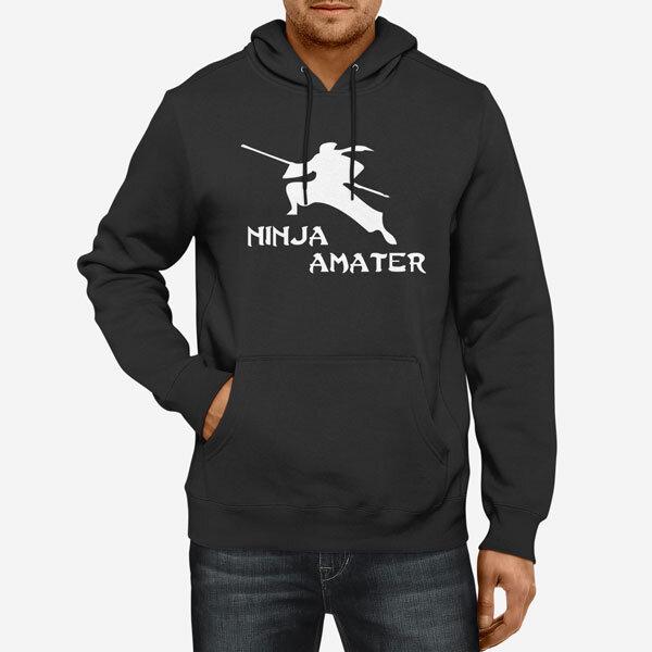 Moški pulover s kapuco Ninja amater