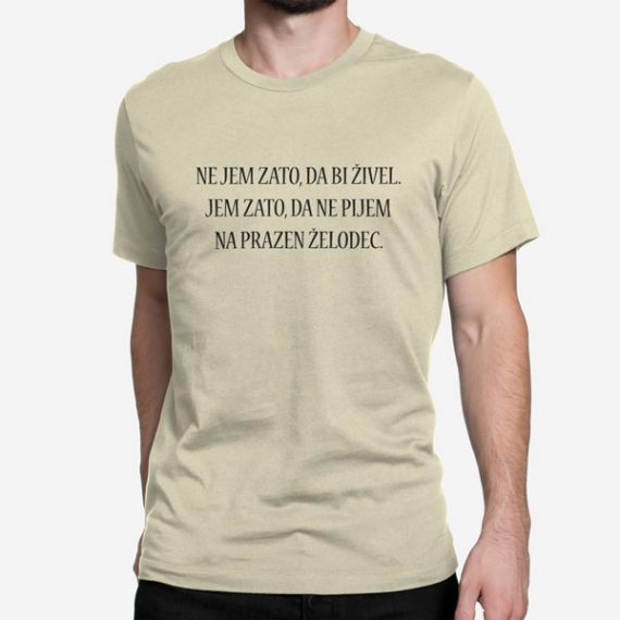 Moška majica kratek rokav Prazen želodec