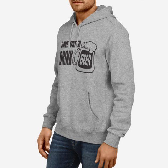 Moški pulover s kapuco Save Water