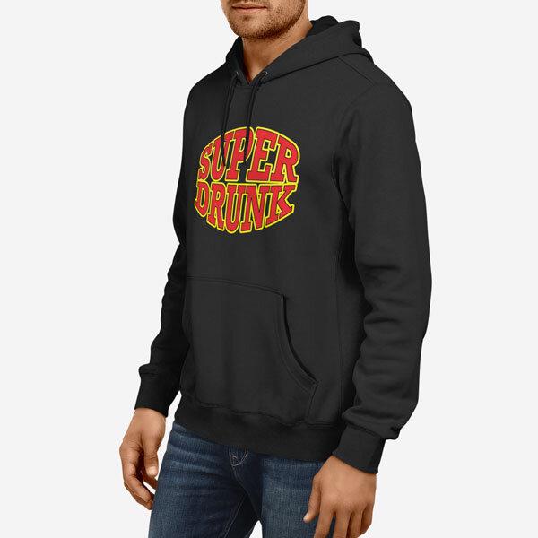 Moški pulover s kapuco Super Drunk