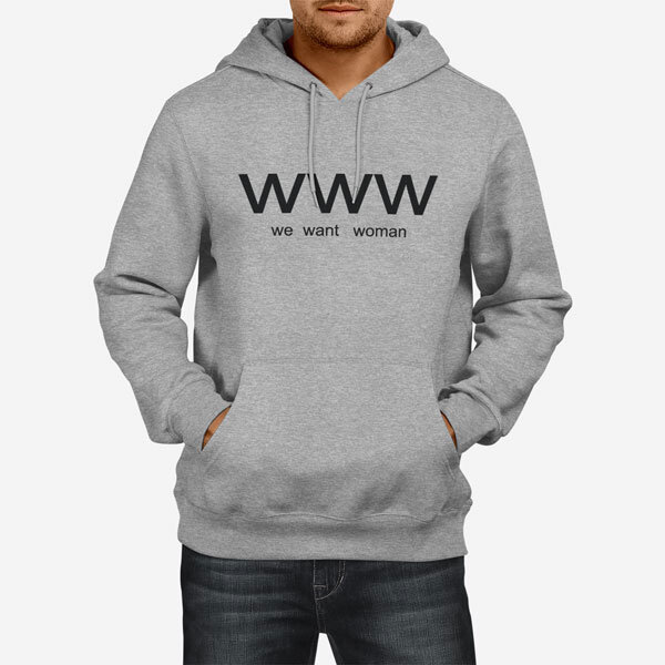 Moški pulover s kapuco WWW
