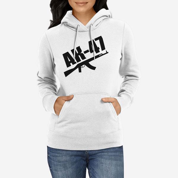 Ženski pulover s kapuco AK 47