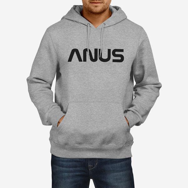 Moški pulover s kapuco Anus