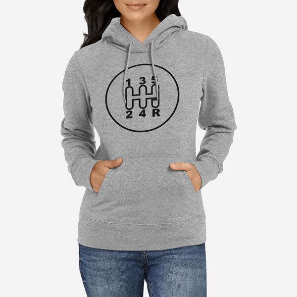 Ženski pulover s kapuco Avtomobilska ročica