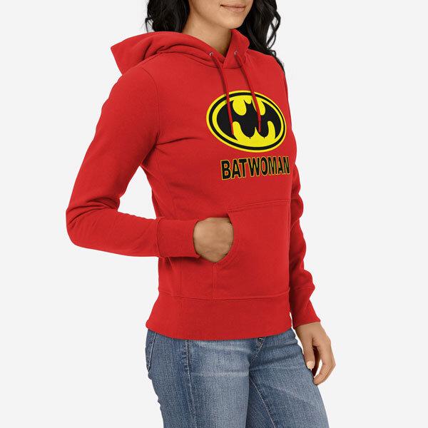 Ženski pulover s kapuco Batwoman