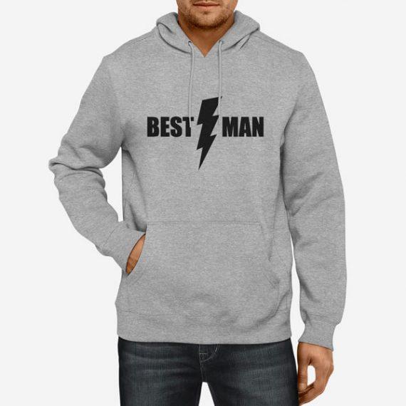 Moški pulover s kapuco Best man