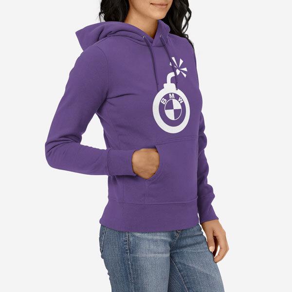 Ženska krŽenski pulover s kapuco BMW bombaatka majica BMW bomba