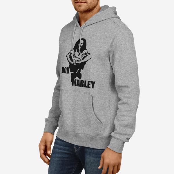 Moški pulover s kapuco Bob Marley