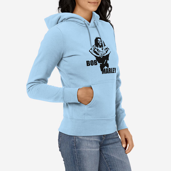 Ženski pulover s kapuco Bob Marley