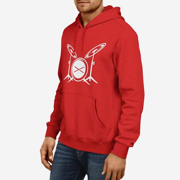 Moški pulover s kapuco Bobni