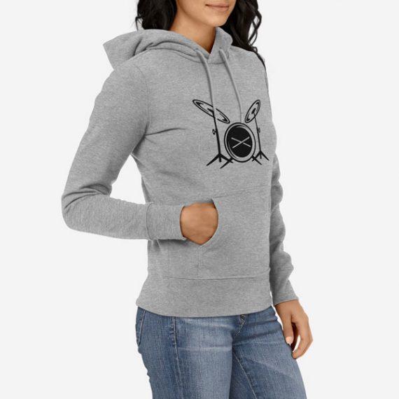 Ženski pulover s kapuco Bobni