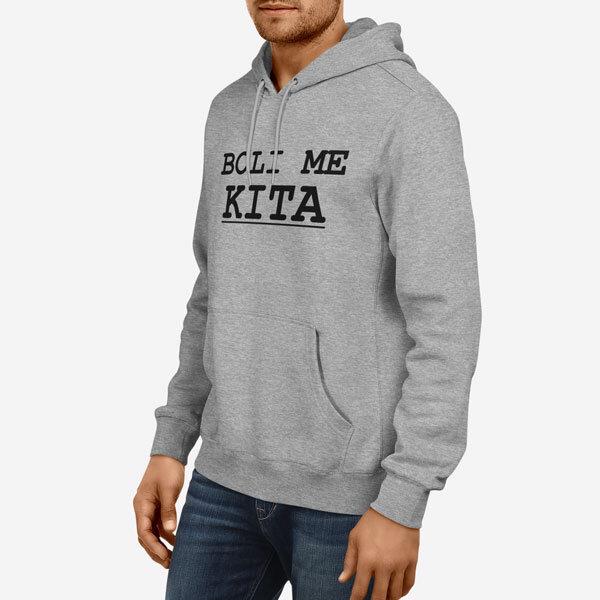 Moški pulover s kapuco Ženska kratka majica Majica Boli me Kita