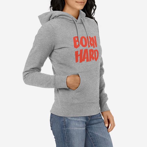 Ženski pulover s kapuco Born Hard