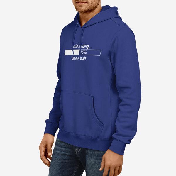 Moški pulover s kapuco Brain Loading