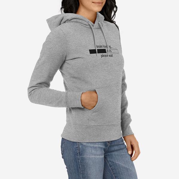 Ženski pulover s kapuco Brain Loading