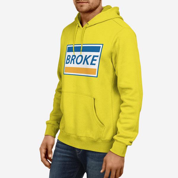 Moški pulover s kapuco Broke