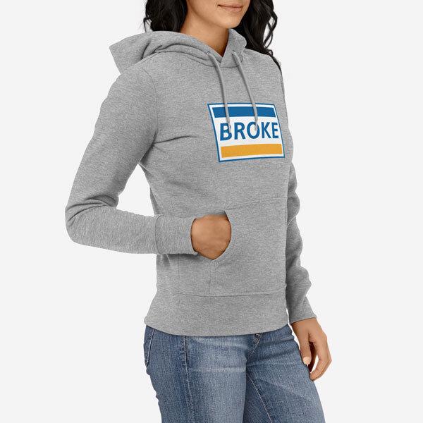 Ženski pulover s kapuco Broke