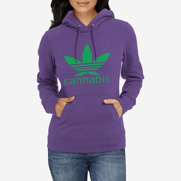 Ženski pulover s kapuco Cannabis