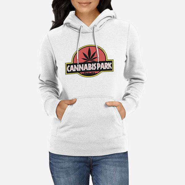 Ženski pulover s kapuco Cannabis Park