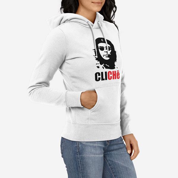 Ženski pulover s kapuco Cliche