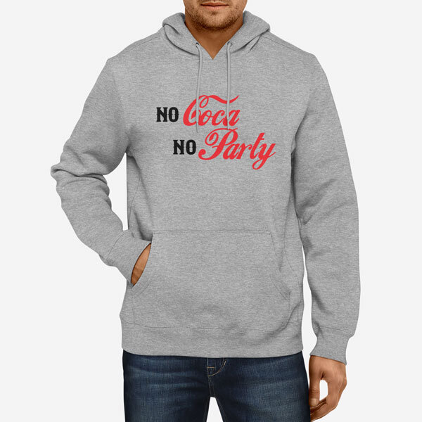 Moški pulover s kapuco Coca Party